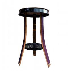 Mesa alta con tapa de tonel y 3 patas