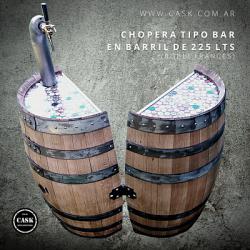 Chopera de cerveza Tirada en barril de 225 lts Tipo BAR